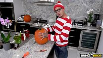 BANGBROS - Teen Evelyn Stone Gets A Halloween Treat From Bruno image
