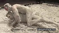 Two gays in mud wrestling match with very good skils