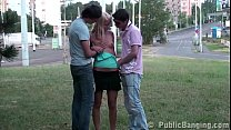 Teens PUBLIC sex orgy in the center of a city with a cute blonde young girl
