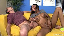 Interracial Handjob