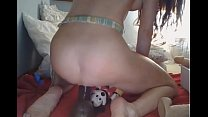 Squirting Over Mickey Mouse Anal Dildo  - Watch Part 2 At Filthygeek.com