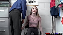 Skinny teen thief Emma Starletto caught and exploited