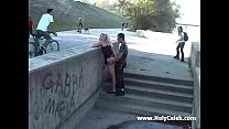 public sex girl who suck and fuck on the street...