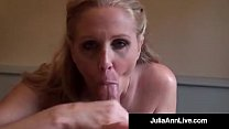 World Famous Milf Julia Ann Gets A Load Of Cum On Her Face! thumbnail