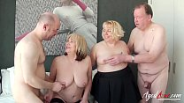AgedLovE Two guys and Two Ladies Hardcore Sex