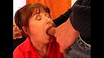 Double penetration for the Italian grandmother