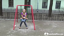 Cutie at the playground is great at sucking