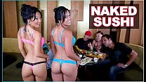 BANGBROS - Naked Sushi With Asian Pornstar Asa Akira and Tasha Lynn