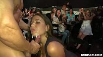 Crazy girls are ready to suck stripper cock