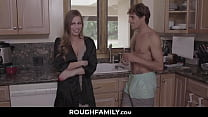 Cheating on Kitchen with Her Yoga Step Son - RoughFamily.com