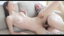 Mad old boy licks young pussy
