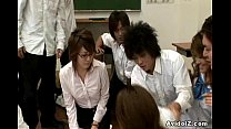 Horny Japanese teacher gets fucked and a.