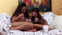 Lesbian Girlfriends Naomi and Penelopa Play Wit...