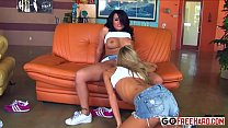 Interracial lesbian gang bang porn HD Video; preview image