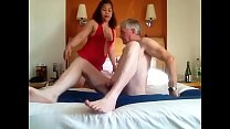 Filipina being trained for a swinging session f...