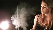 The oh so sexy Mika blowing insanely hot smoke! Whoa!