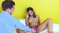 Cute Babysitter Gives Head and Screwed POV