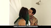 FamilyHookups - Stepsister Loves Choking on Tattooed Brothers Cock - 9Club.Top