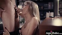 Darla Crane takes Seths cock into her mouth and gives him a hot milf blowjob
