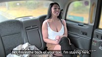 Busty Brit babe gets fucked in fake taxi