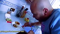 Asian Housewife Sharon Lee Ass Fucked In The Kitchen