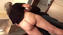 Hungarian granny gets fucked in the kitchen