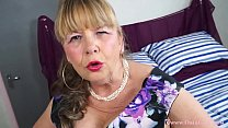OmaGeiL Busty Mature Lady Solo Striptease thumbnail