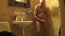 Roger Virre in the shower