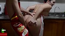 Good fucked in the kitchen while I cook you. Homemade voyeur IV020