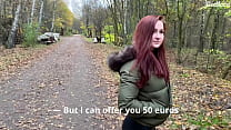 Public pickup and cum inside the girl outdoors. KleoModel