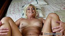 Beautiful grandmother fucked by her gardener