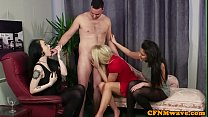 CFNM femdom sucking and deepthroating preview image