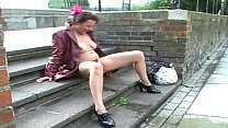 Upskirt public masturbation and nude outdoor flashing of uk mature amateur Preview
