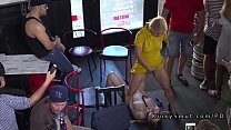 Slave in red dress disgraced in bar's Thumb