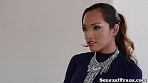Beautiful ladyboy fukcs sissified lover
