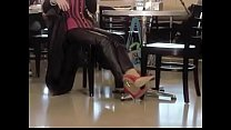 Best Mom Shopping In 7 Inch Heels Corset. See pt2 at goddessheelsonline.co.uk