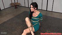 Breast tied milf is toyed and teased