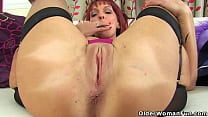 UK milf Lelani never fails getting turned on by a big dildo