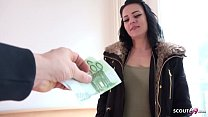 GERMAN SCOUT - 18yr OLD CUTE TEEN MARIE TALK TO FUCK FOR MONEY AT STREET CASTING IN BERLIN