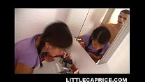 Little Caprice enjoys bathroom sex - download porn videos