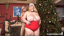 Lovely Busty BBW Sashaa Juggs Fucks BF Under Xm...