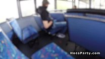 Two Sexy Amateur Partying In The Bus While Moving  - 10