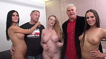 Epic orgy with Jasmin Jae, Mea Melone and Harmo... Thumbnail