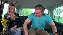 Really bad dirty speaking blonde teacher fucked in van by stranger Vorschaubild