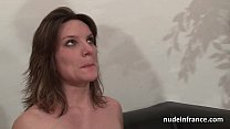 Casting couch of a pretty small titted french b... thumb