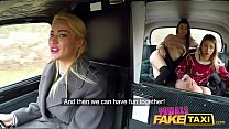 Female Fake Taxi Cherry Kiss Anna Di and Hayli Sanders in lesbian threesome thumbnail