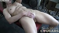 Mature Female Bodybuilder Masturbates in the Gym thumb