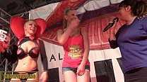 Spanish blonde pornstars tappersex on stage Thumbnail