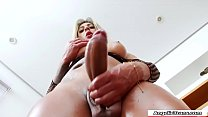 Latina TS Nicoly Evans rubbing her cock