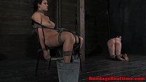 BDSM sub Penny Barber feet in ice water preview image
